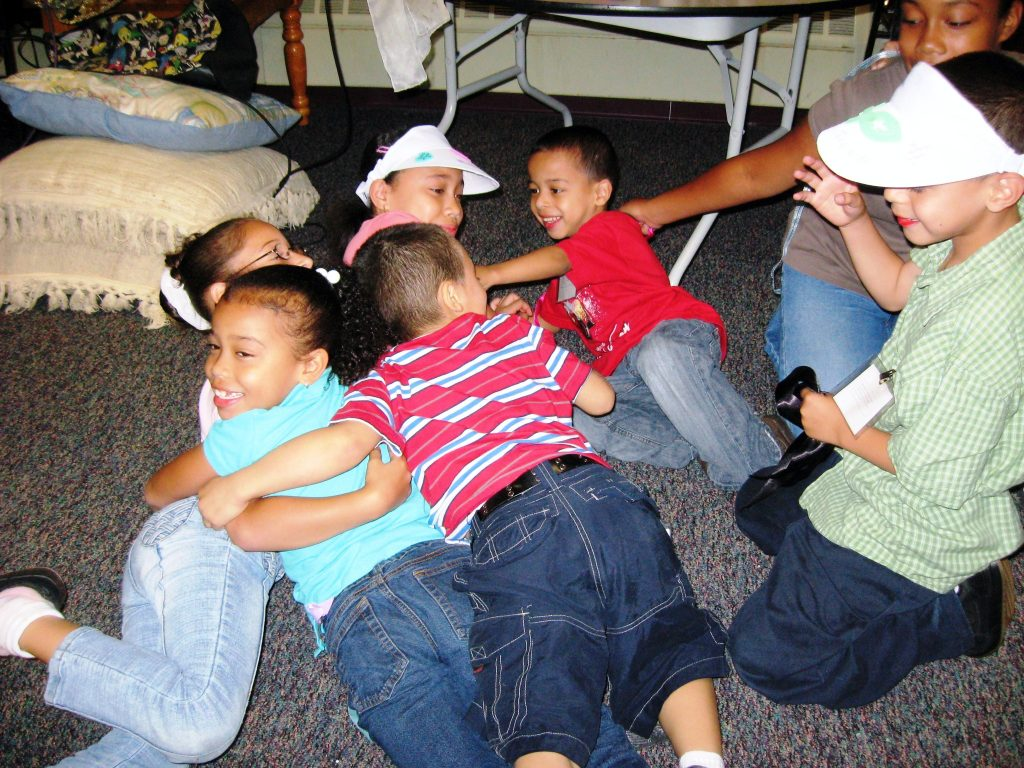 bethany hill hugging children